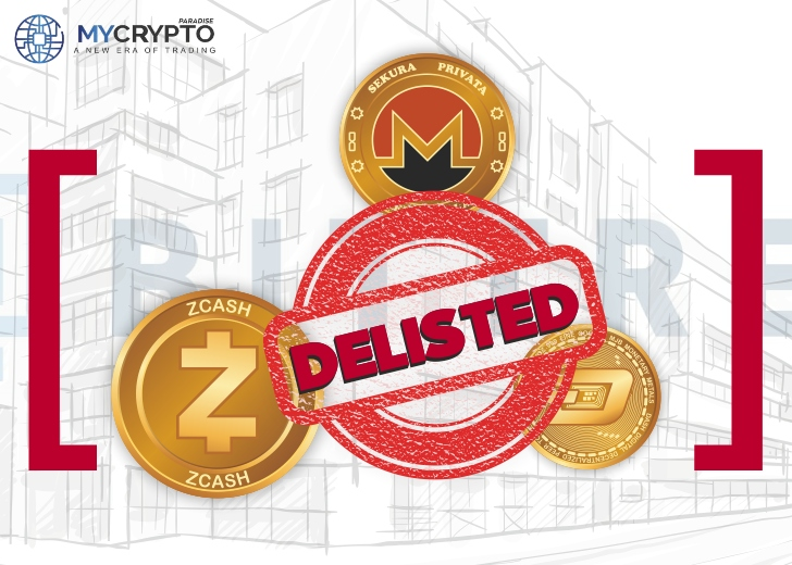 delisting of 'privacy coins'- XMR, ZEC, and Dash