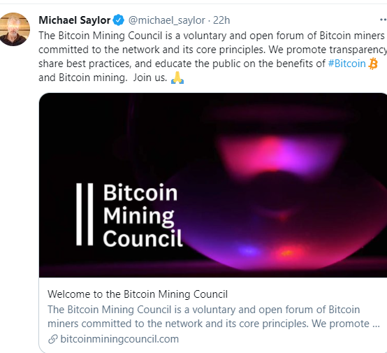 no role in the bitcoin mining council